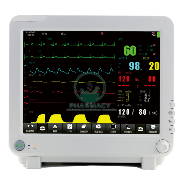 Multi Parameter Patient Monitor With Touch Screen
